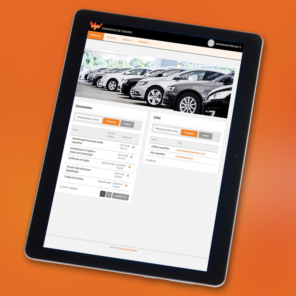 Solution Vehicle Warranty Certificate App